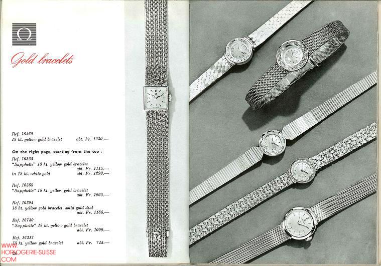 Montre Femme Omega Or 1960